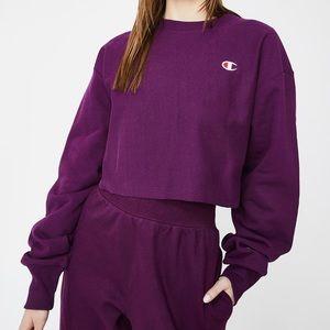 Champion UO cropped crewneck sweatshirt